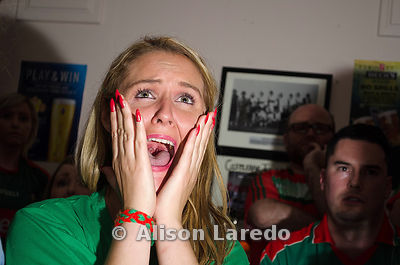 Rosie Conaty watching the all-Ireland football final 2016. PHOTO: ALISON LAREDO