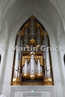 Organ of Hallgrimskirkja, Reykjavik's memorial church, consecrated in 1986