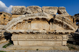 Ancient stone carving at Hierapolis.