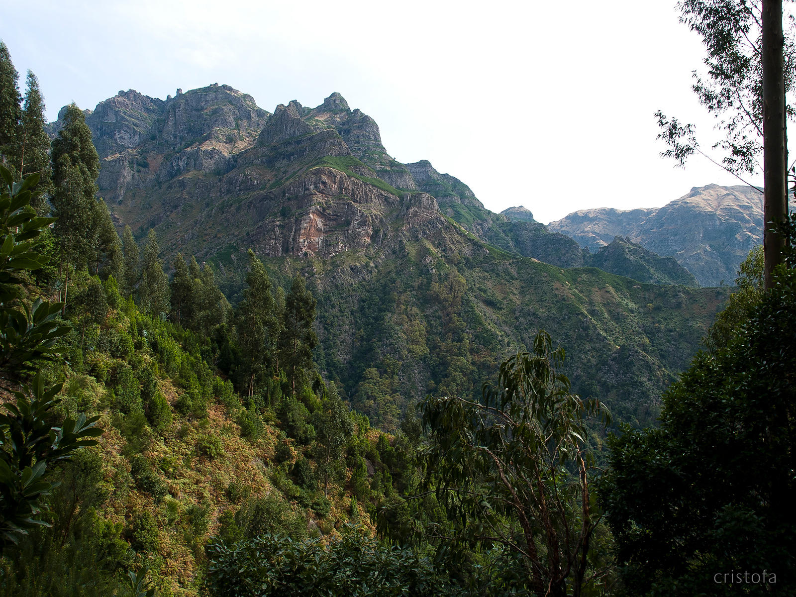 steep mountains near Curral das Freiras
