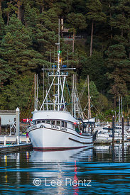 The Tara Dawn Moored in Outer Noyo Harbor, Fort Bragg, California
