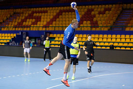 Dainis Kristopans during the Final Tournament - Final Four - SEHA - Gazprom league, Team training in Brest, Belarus, 06.04.20...
