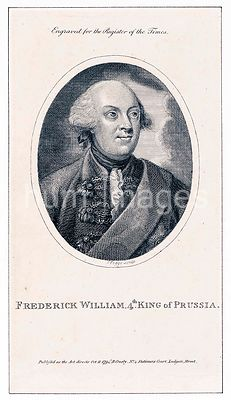 Frederick William, 4th. King of Prussia