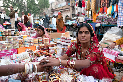 Bangle seller in Jodhpur, Rajasthan, India