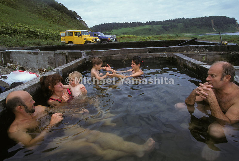 Hot springs in Kunishir