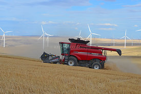 Combine_cutting_on_hills_eastern_Oregon