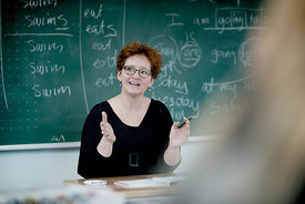 Danish schoolteacher at work 6