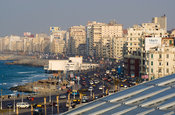 The Bibliotheca Alexandrina  at the Corniche, Alexandria, Egypt