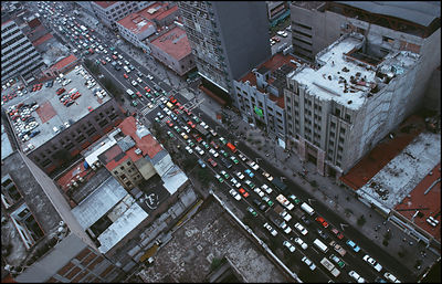 MEXICO Mexico City -- Traffic jam --  Picture © Jon Mitchell / Lightroom Photos