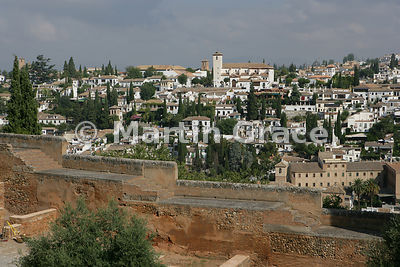 Part of Granada from the Alhambra, Granada, Andalusia, Spain