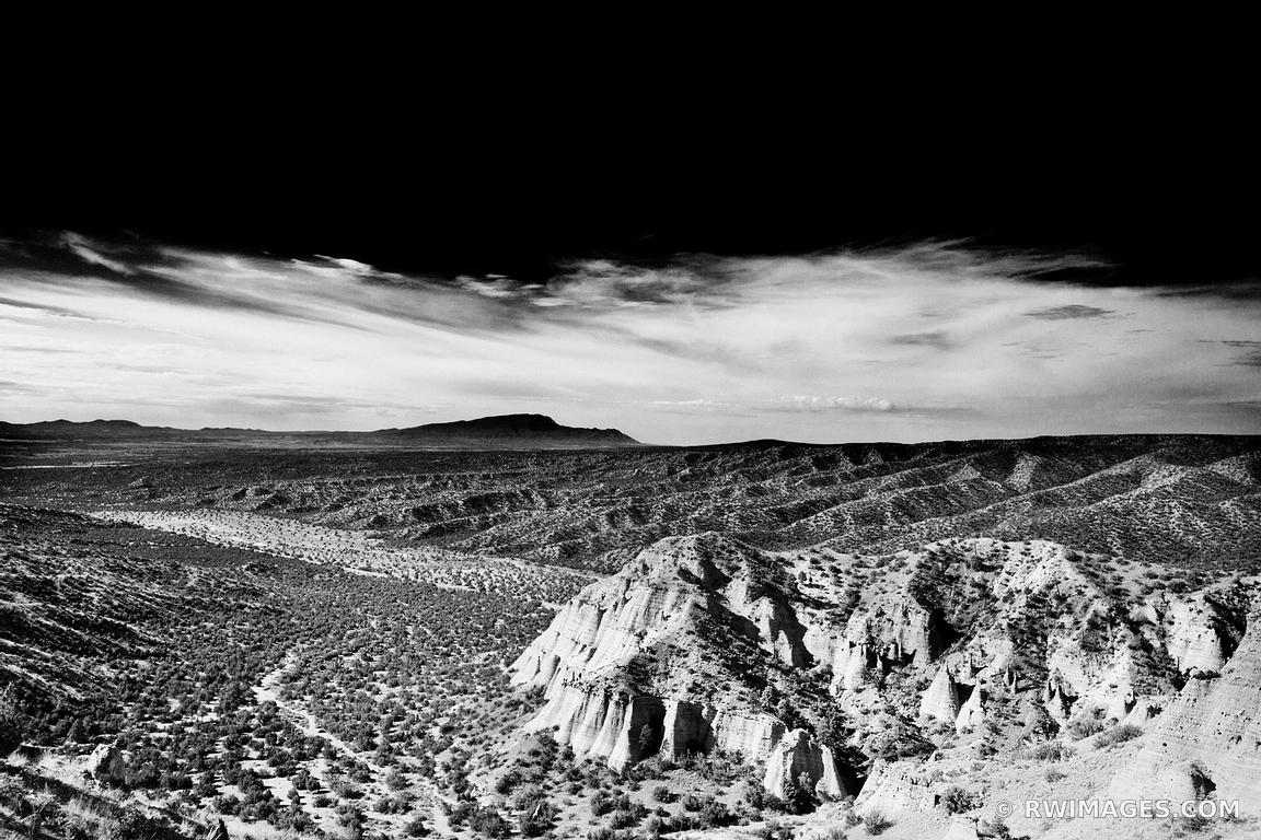 KASHA KATUWE TENT ROCKS  NATIONAL MONUMENT NEW MEXICO LANDSCAPE BLACK AND WHITE