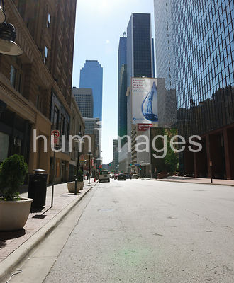Dallas Stock Photos: Downtown Dallas street with office buildings