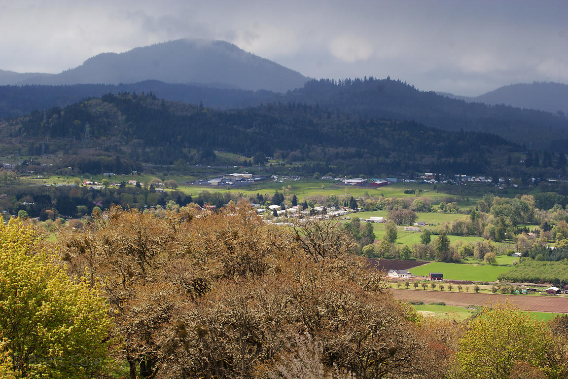 View from Mount Pisgah of the Willamette Valley near Eugene, Oregon