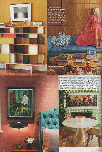 Vogue article showing Market Stall in private residence