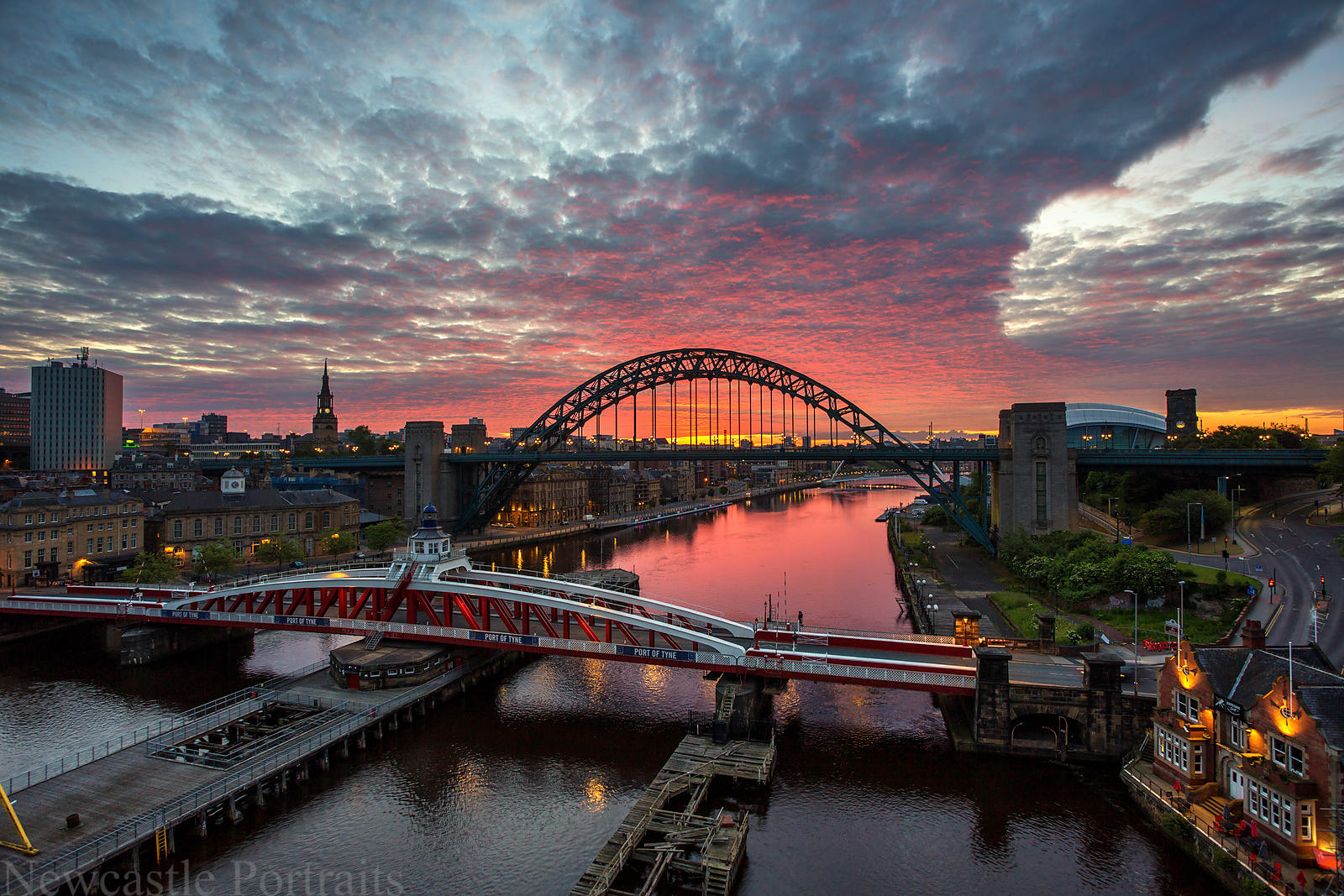 Sunrise over the Tyne