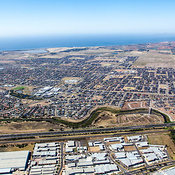 Aerial view of Point Cook in Melbournes Western Suburbs.