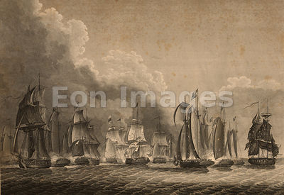 Battle on Lake Erie during War of 1812