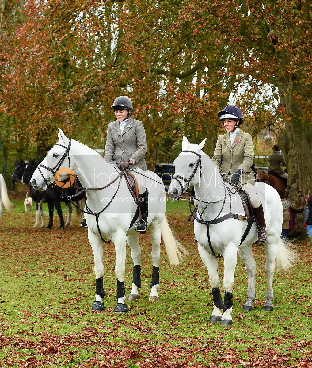 Rose Weatherby, Frankie Wyatt at the meet. The Cottesmore Hunt at Somerby
