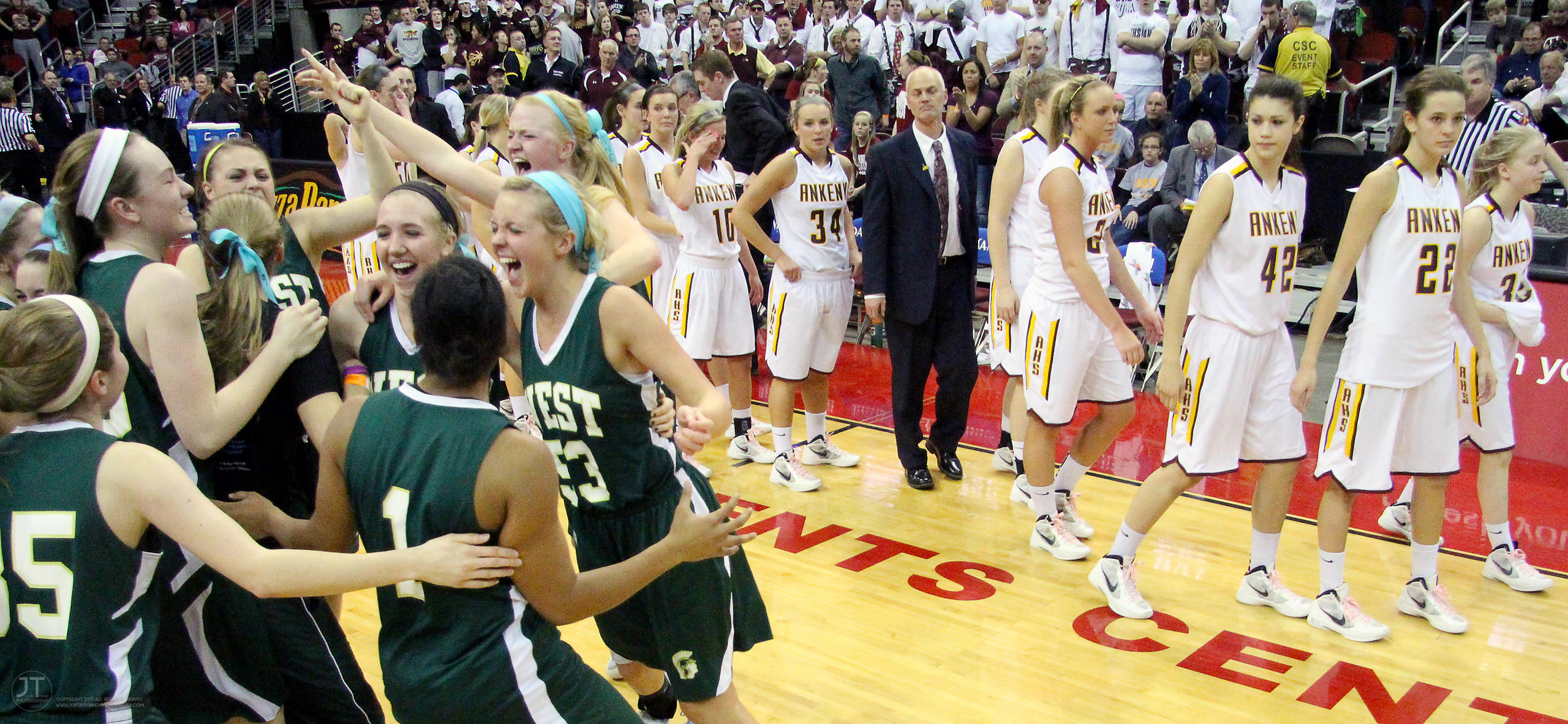 Girls Basketball 4A State Championship Game Iowa City West vs Ankeny 3/3/12