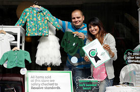 Merry Go Round, Nithsdale Road, Glasgow.28.8.15.Glasgow social enterprise charity is celebrating after being recognised for the quality of pre loved low cost children's clothes it offers in the local community...Pictured are staff members :.Rajkiran Atwal (pink top / grey hoodie).Lynda Robertson (glasses).mark Rautenbach (blue striped top).Samiya Zafar (grey top / grey hoodie)..They were joined by customers Mark Davies and his son Alfie (2) from Govan...More info from Sarah Stuart at Zero Waste Scotland.07715 066 461.sarah.stuart@zerowastescotland.org.uk...Pictures Copyright: Iain McLean.79 Earlspark Avenue.G43 2HE.07901 604 365.www.iainmclean.com.photomclean@googlemail.com.07901 604 365.ALL RIGHTS RESERVED.