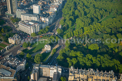 Aerial view of Hyde Park Corner, London