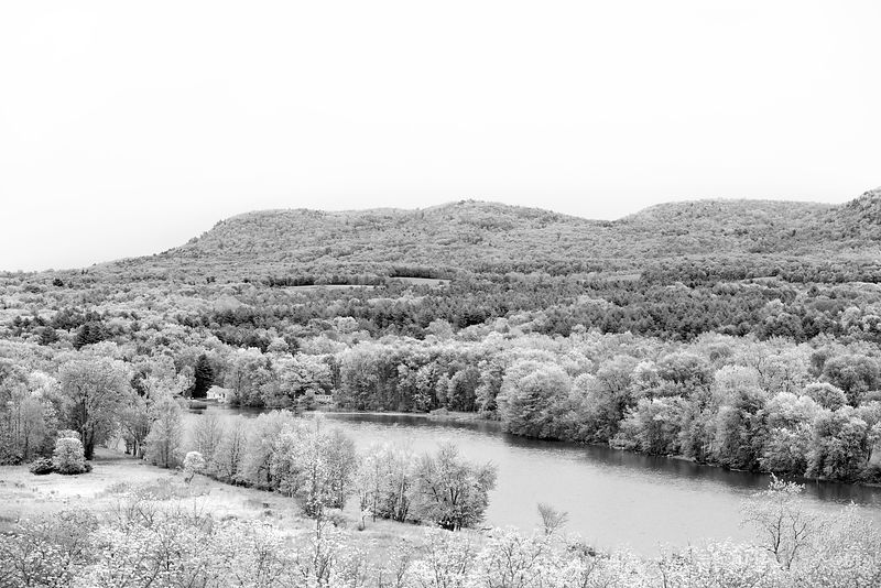 HUDSON RIVER SARATOGA NATIONAL HISTORICAL PARK NEW YORK BLACK AND WHITE