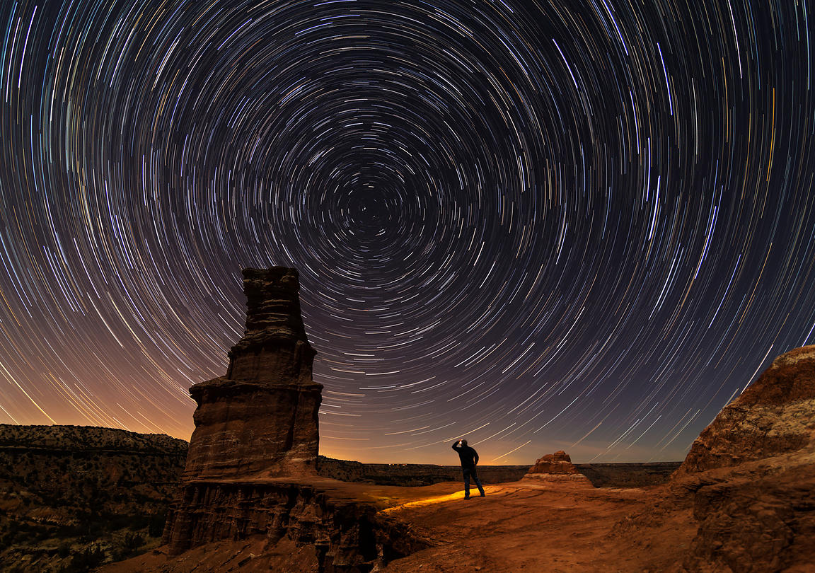Star Trails Over the Lighthouse