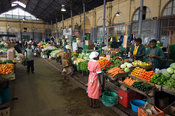 Mozambique, Maputo, Mercado Central is housed in a building dating to 1901