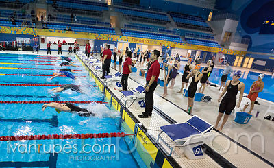 50m Backstroke Women, Ontario Junior International, Day 1 Preliminaries, December 15, 2017