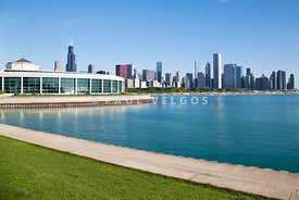 Photo of Shedd Aquarium and Chicago Skyline