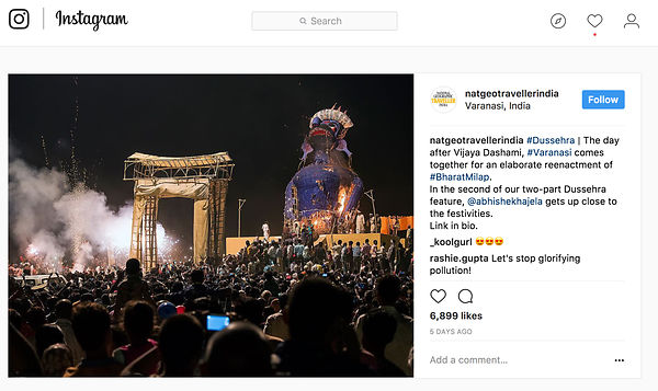 National Geographic Traveller India, Instagram Page, Oct 2017