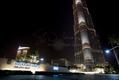 1 Emaar Boulevard - The Burj Khalifa at Night - Dubai, United Arab Emirates