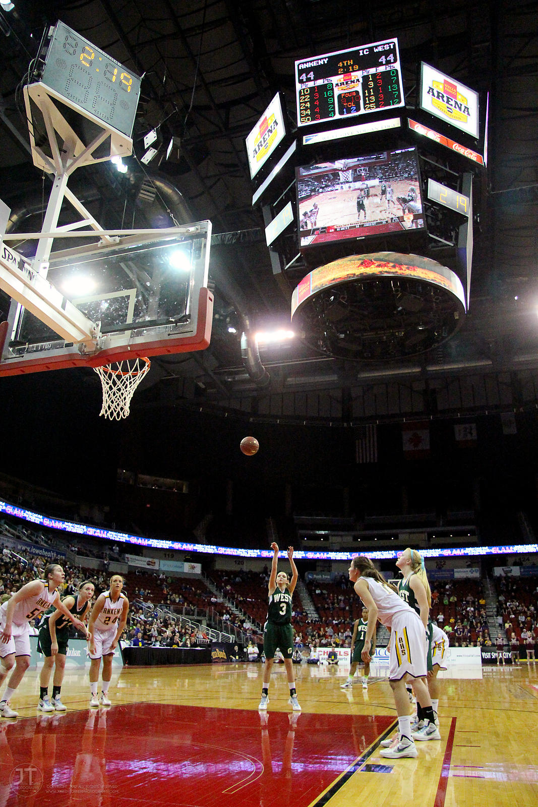 Iowa City West vs Ankeny Girls Basketball 4A Basketball Championship Game 3/3/12