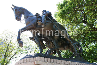 Robert E. Lee and his horse Traveller in Lee Park, Dallas, Texas
