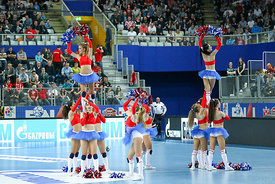 cheerleaders  during the Final Tournament - Final Four - SEHA - Gazprom league, semi finals match, Varazdin, Croatia, 03.04.2...