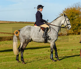 Helen Lovegrove at the meet. The Belvoir Hunt at Debdale Farm 10/11