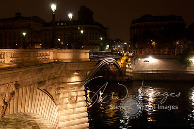 Pont Notre Dame and River Seine at Night - Paris, France