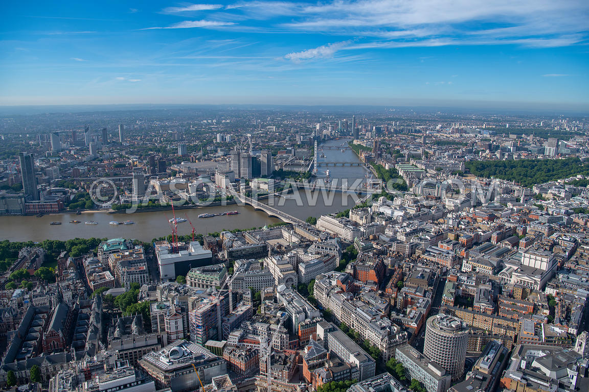 London, aerial view of Aldwych