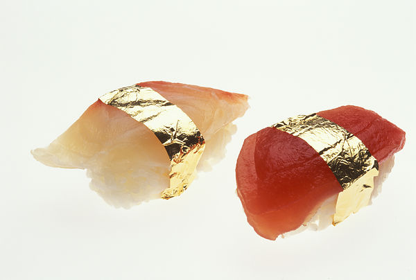 .A fad that arose in Japan during the booming economy of the 1980s — gold-leaf sushi — became an over-priced speciality of so...