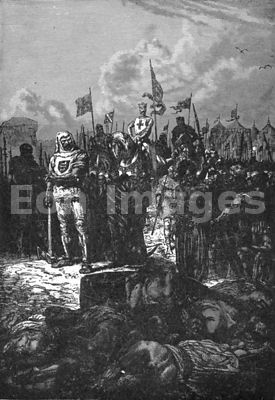Richard the Lionhearted beheads Muslims at Acre during Crusades