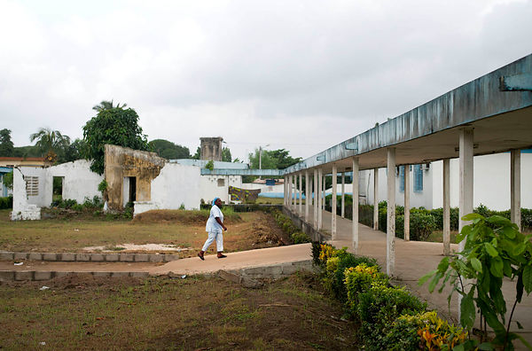 Ivory Coast, Adiaké. The hospital.