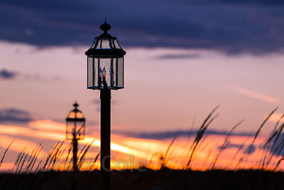 Street lamp at sunset, Saint Michaels, Maryland