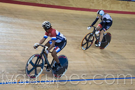 Master Women Sprint 1/2 Final. Canadian Track Championships, Mattamy National Cycling Centre, Milton, On, September 25, 2016