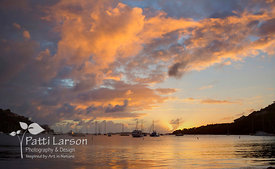 Sunset Over Great Cruz Bay, St. John, USVI