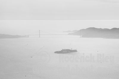 Alcatraz Island and Golden Gate Bridge