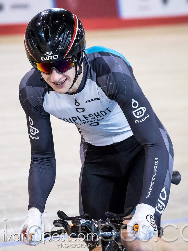 Junior Men Individual Pursuit Qualification. Canadian Track Championships (U17/Junior), April 2, 2016
