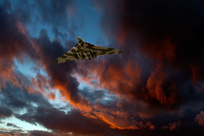 Avro Vulcan at sunset