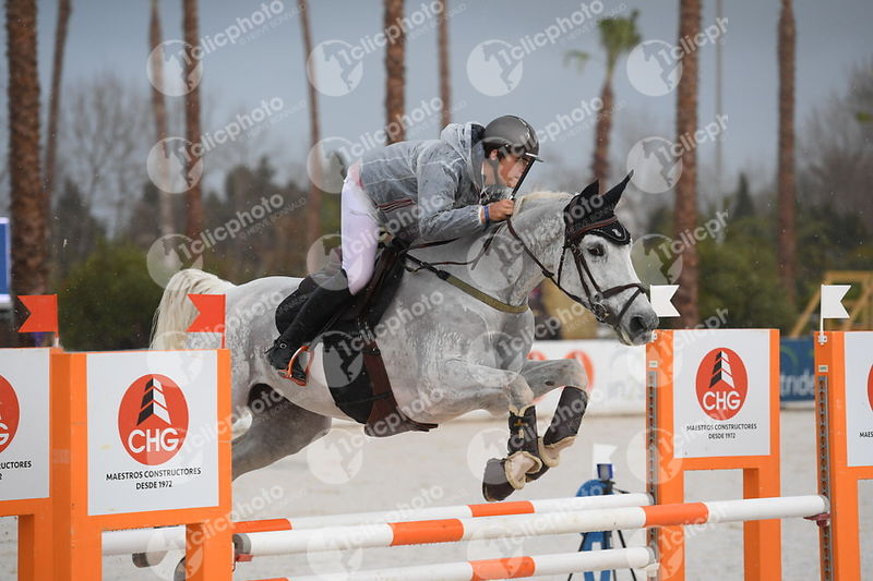 Oliva, Spain - 2018 January 28: Bronze tour 1m20 during CSI Mediterranean Equestrian Tour 1..(photo: 1clicphoto.com I Nicole ...