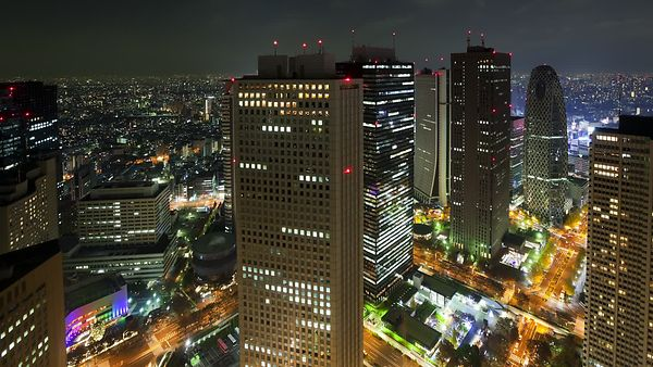 Bird's Eye: Intersections, Streets, & High-Rises Above Shinjuku