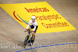 Men's Individual Pursuit C1-3  Qualification. Track Day 2, Toronto 2015 Parapan Am Games, Milton Pan Am/Parapan Am Velodrome,...
